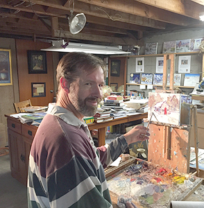 Michael at easel
